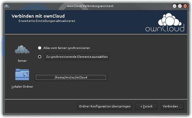 owncloud-client-setup